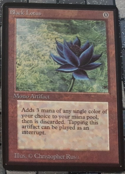 Mtg Magic Proxy 1x Black Lotus Commander Blackcore P9