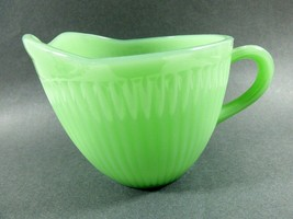 VTG Fire King Jade-ite Jane Ray pattern green glass Creamer Anchor Hocking - $54.45