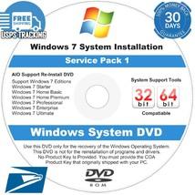 Windows 7 Home Premium 32/64 Bit Install DVD Plus Bonus Driver Disc Incl... - $6.61