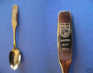MANITOBA CENTENNIAL Souvenir Collector Spoon Collectible BUFFALO Vintage