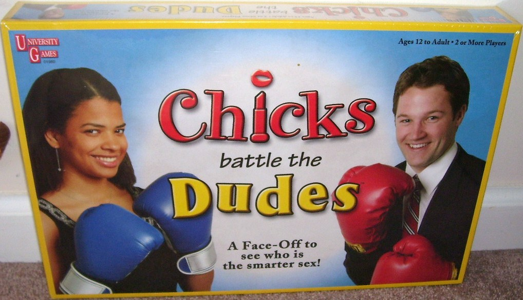 Chicks battle the dudes board game nib