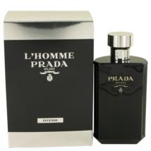Prada L'Homme Prada Intense 3.4 Oz Eau De Parfum Cologne Spray image 1