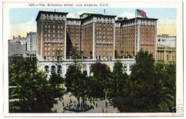 LOS ANGELES CALIFORNIA Biltmore Hotel CA - $6.50