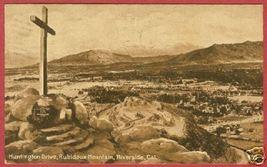 Riverside CA Rubidoux Mtn Huntington 1913 Postcard BJs - $8.00