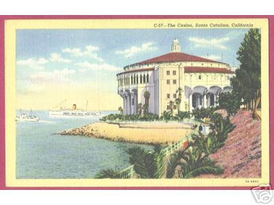 SANTA CATALINA CALIFORNIA Casino Ship Postcard