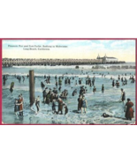 Long Beach California Pier Sun Parlor Bathing Beauties Postcard - $7.50