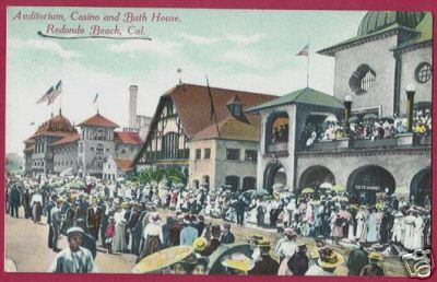 Redondo Beach California Casino Bath House People 1910