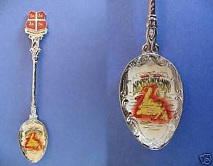 NEWFOUNDLAND Souvenir Collector Spoon ENAMEL Collectible CANADA Province
