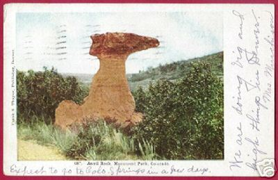 ANVIL ROCK MONUMENT PARK COLORADO CO Thayer UDB 1907