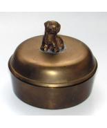 Antique Brass Spaniel Puppy Trinket Box or Powder Jar - $50.00