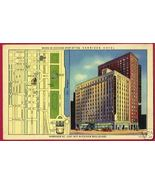 CHICAGO ILLINOIS Harrison Hotel St Map Linen IL - $8.00