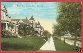 Zion IL Elisha Avenue Homes Postcard BJs - $7.50