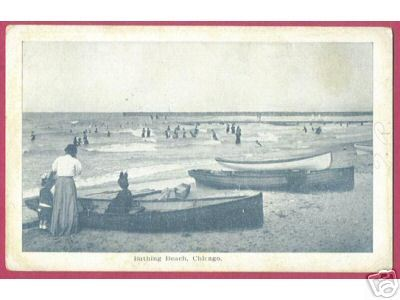 CHICAGO ILLINOIS Bathing Beach Ladies Boats 1908