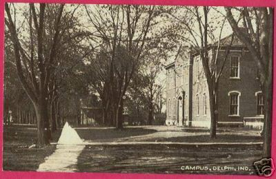 DELPHI INDIANA Campus IN 1910 Buildings B&W PC