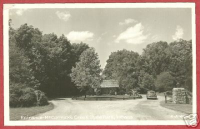 McCORMICK'S CREEK STATE PARK SPENCER IN Cars RPPC BJs