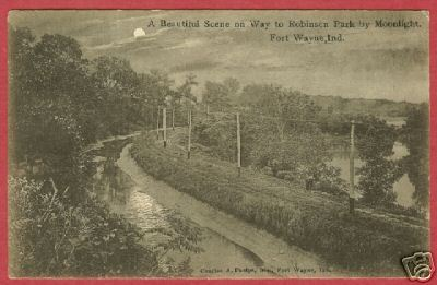 Primary image for Fort Wayne IN Postcard Moonlight to Robinson Pk BJs