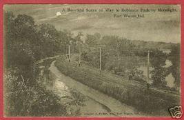 Fort Wayne IN Postcard Moonlight to Robinson Pk BJs - $7.50