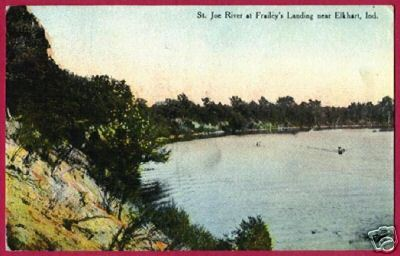 Primary image for ELKHART INDIANA Frailey's Landing St Joe River 1910