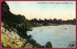 Elkhart Indiana Frailey's Landing St Joe River 1910 - $7.00