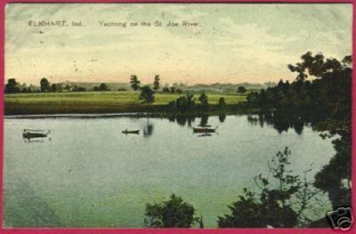 ELKHART INDIANA Yachting St Joe River 1910