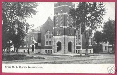 SPENCER IOWA Grace M E Church 1909