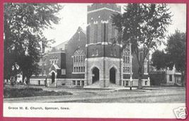 Spencer Iowa Grace M E Church 1909 - $6.00