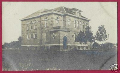 SPENCER IOWA School RPPC 1909 IA