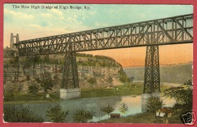 High Bridge KY River Kentucky Vintage Postcard BJs