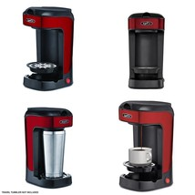 Single Serve Coffee Maker Single Compatible Any Red K Cup Plus One Scoop... - $26.64