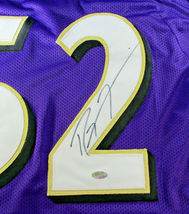 RAY LEWIS / HALL OF FAME / AUTOGRAPHED BALTIMORE RAVENS CUSTOM JERSEY / STEINER image 4