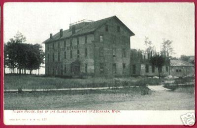 Primary image for ESCANABA MICHIGAN Tilden House 1902 UP MI Northern