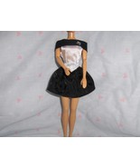 Black  and White Paisley Print Satin Party Dress fits Barbie and most Fa... - $5.95