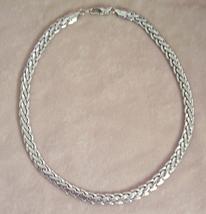 Silver Tone Heavy Link Choker Necklace - $4.95