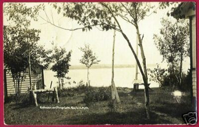 GAYLORD MICHIGAN Kokozen Otsego Lake RPPC MI 1925