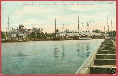 Primary image for MANISTEE MICHIGAN Life Saving Station Light PC MI