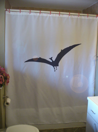 Shower Curtain Pterodactyl dinsoaur wings pterosaur fly