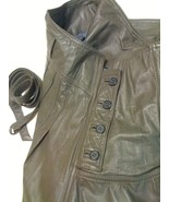 ALAN AUSTIN BEVERLY HILLS GRAY ITALIAN LEATHER ... - $219.99