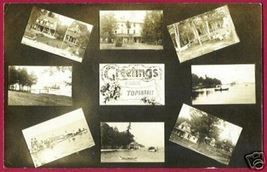 TOPINABEE MICHIGAN Multi View Tavern Boats RPPC MI '12 - $50.00