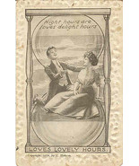 Loves Lovely Hours 1911 vintage Post Card  - $5.00