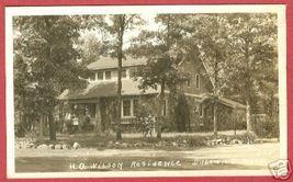 IDLEWILD MI Wilson Residence Home RPPC RP Michigan - $29.99
