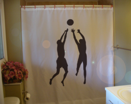 Shower Curtain beach volley ball sport fun jump spike
