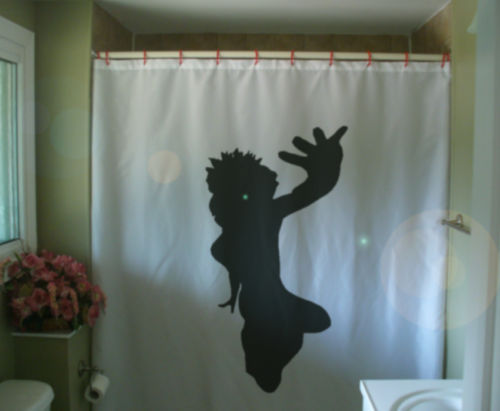 Shower Curtain break dancer hand raise jump party dance