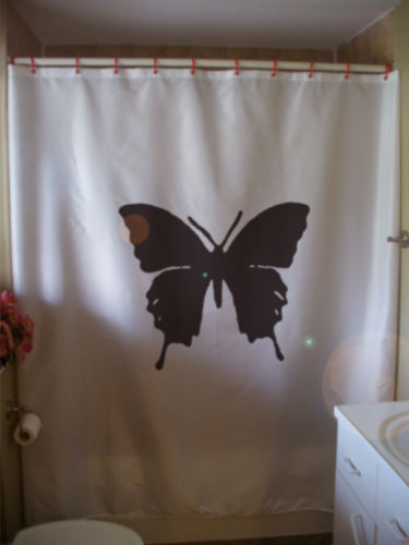Shower Curtain butterfly papillon silhouette insect