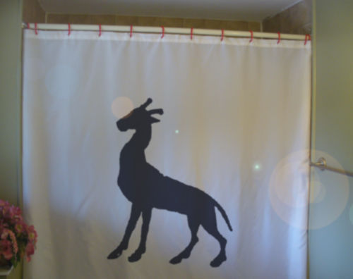 Shower Curtain cameleopard heraldry myth creature beast