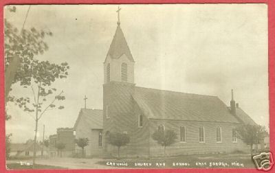 Primary image for East Jordan Mi Catholic Church School RPPC Postcard BJs