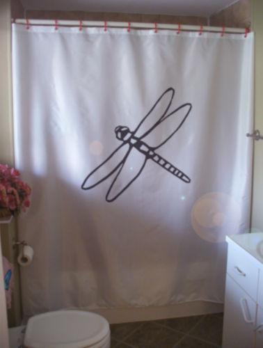 Shower Curtain dragonfly insect fly wing long thorax