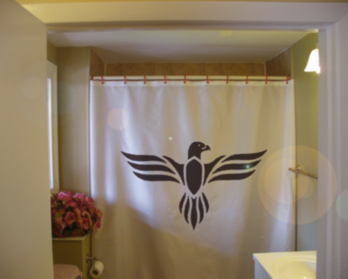 Printed Shower Curtain eagle vintage classic art deco bird wing stylistic