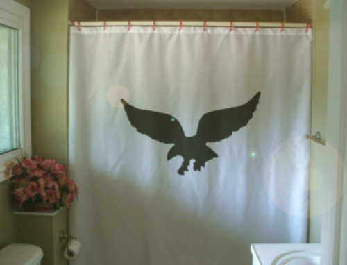 Shower Curtain eagle wing claw swoop bird of prey talon