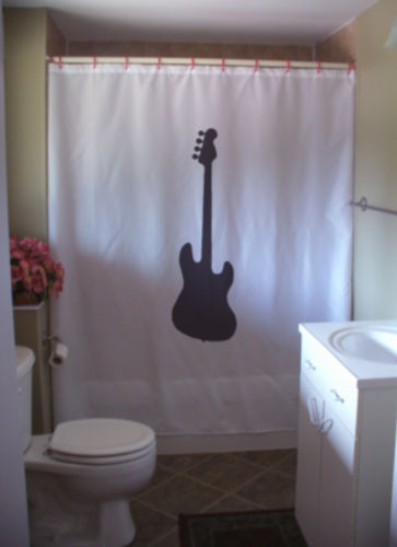 Shower Curtain electric guitar music rock instrument