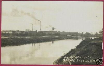 Primary image for Three Rivers MI Postcard Fair Morse Co Banks RPPC BJs